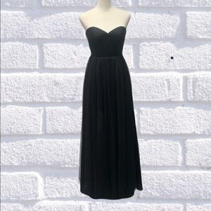 Jenny Yoo Collection Anabelle Black Dress Size 0